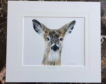 Deer original painting, wildlife wall art, forest friends, painting of a deer, deer head, wildlife home decor, deer art, wildlife art