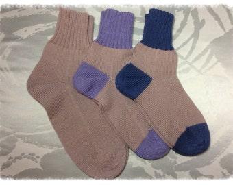 Knitted wool socks Matching socks Family socks knit socks grey mens socks womens socks Father gift Mother gift Grandpa gift Grandma gift
