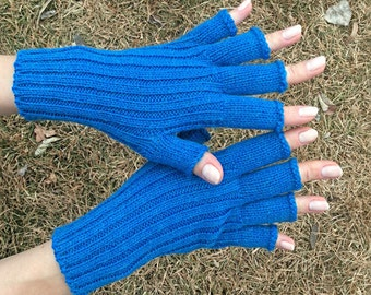 Birthday|gift|for|her gift for sister mothers day gift 10 year wedding anniversary gift|for|women blue gloves half finger gloves fingerless