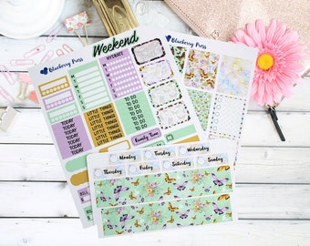 Butterfly Weekly Kit Planner Stickers! Perfect for Erin Condren