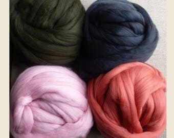 Big Yarn, New 2017 Shades, Giant Super Bulky Chunky Yarn, Big Stitch Merino Wool, 1-2 week turnaround