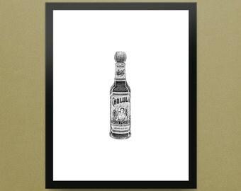"Cholula Hot Sauce - 8x10"" Limited Edition Fine Art Digital Giclee Print"