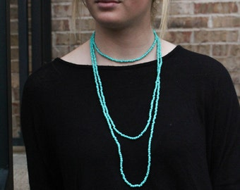 Turquoise Infinity Necklace
