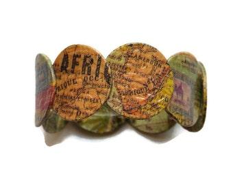 Africa bracelet, stretch bracelet, ethnic bracelet, for her, Bracelet Africa, ethnic bracelet, for her, elastic bracelet
