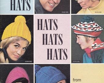 Bernat Hat Patterns- Knitting Patterns 30 Different Hat Patterns to Knit Vintage Craft Book