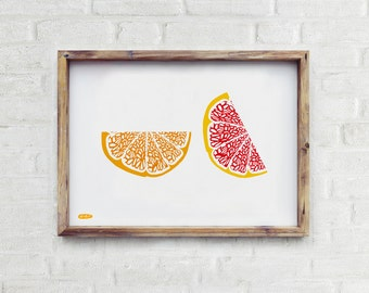 Orange and Grapefruit