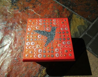 Hummingbird Trinket Box in Copper