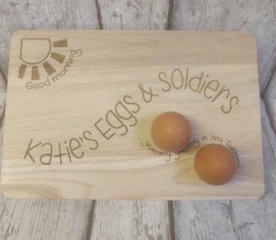 Sunshine egg board - chopping board and plate for egg & soldiers