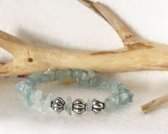 Aquamarine gem stones, Aquamarine jewellery, Aquamarine bracelets, Aquamarin crystal bracelet healing jewelry, crystal jewelry, blue jewelry