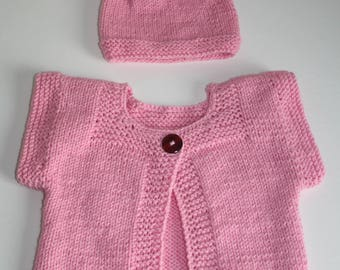 Knitted vest + hat for children