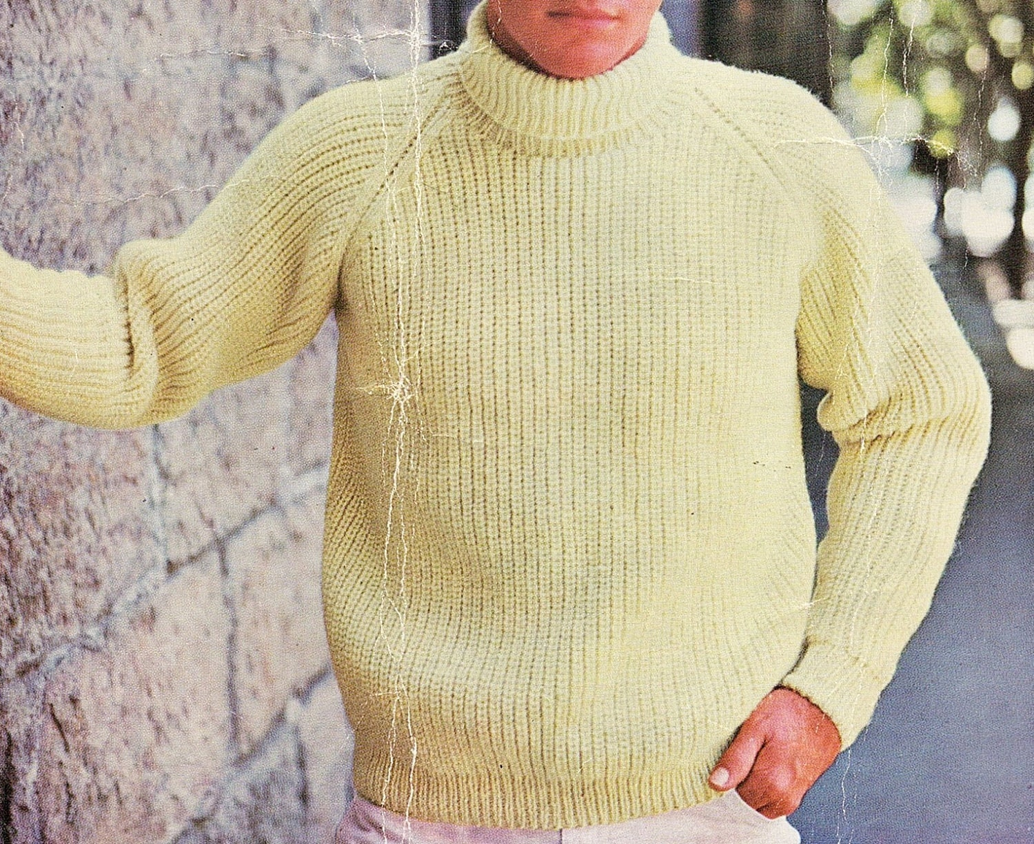 Mens raglan style fishermans rib sweater plus size knitting this is a digital file bankloansurffo Gallery