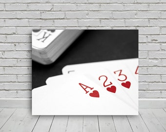 red ace of hearts photo, 20x16in, photo digital download,photography,download,print,wall art,photo, digital image,canvas,print,