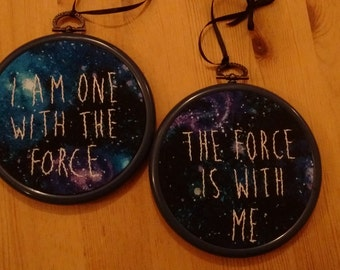 """The Force is with me 4"""" embroidery set"""