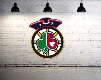 Boston Sports Logos Combined wall decal Large 24 inch Indoor / Outdoor