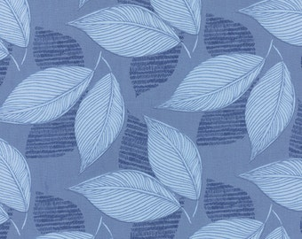 Moda Fabric - Aria - Kate Spain - 27233 16 - Leaves - Cotton fabric by the yard