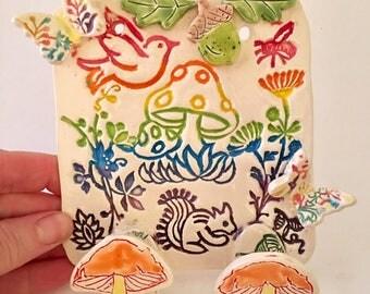 Ceramic Rainbow Hooks