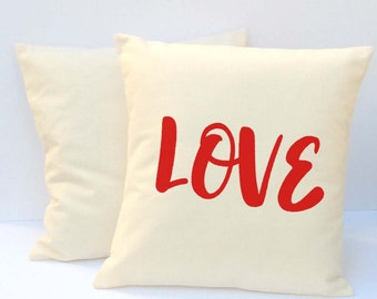 Valentine Pillow, Word Pillow, Pillow With Saying, Love Pillow. Valentine Gift