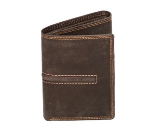 Premium Hunter Leather Wallet & Card Holder | Coco Brown