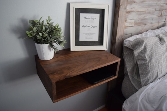 Walnut Floating Bedside Tables/Nightstands (pair of two) - New Year Sale!