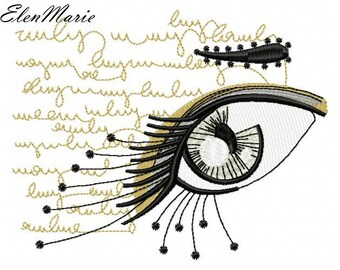 037 Abstract eye - Machine Embroidery Design