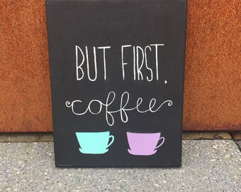 but first, coffee canvas