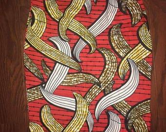 African Skirt (Orange/Gold/White)