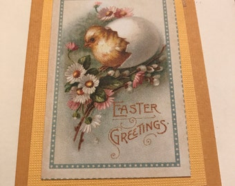 Easter Greetings Baby Chick Card