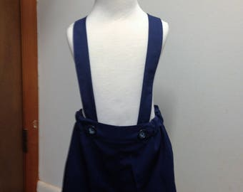 Boys navy blue shorts, boys suspender shorts, ring bearer shorts, available to order 12 mo, 18 mo, 2t, 3t, 4t, 5t ,6