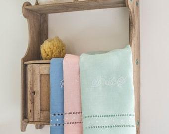Dot Linen Hand Towel