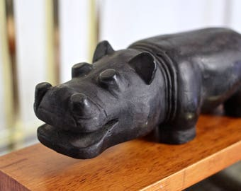 Black Hippo or paperweight