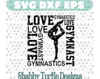 Gymnast love SVG EPS DXF