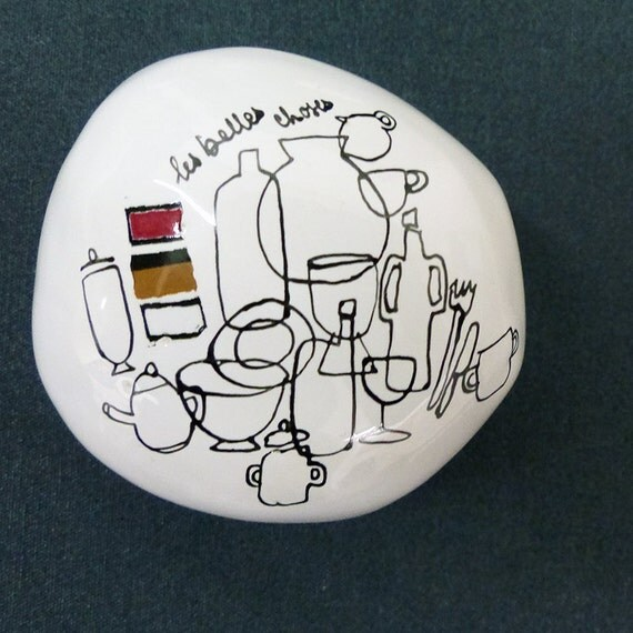 Ceramic pebble hand-painted - The beautiful things / Collection
