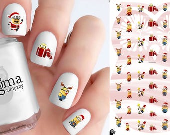 Minions Christmas Nail Decals (Set of 56)