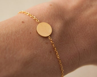 gold circle bracelet - geometric jewelry - minimalist jewelry -everyday bracelet - dainty gold jewelry gift -gift for her under 10