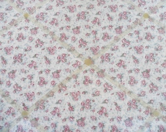 Hand Made Pink Floral Design fabric Memo Board.