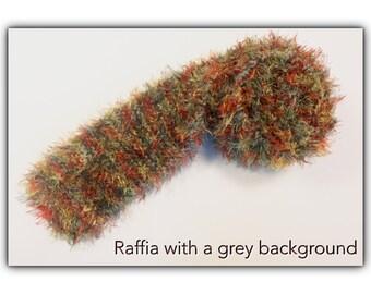 Luxury Fluffy Scarf - Raffia