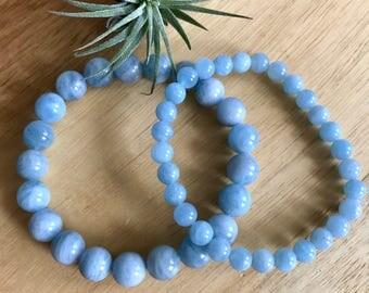 Aquamarine healing gemstone crystal bracelet