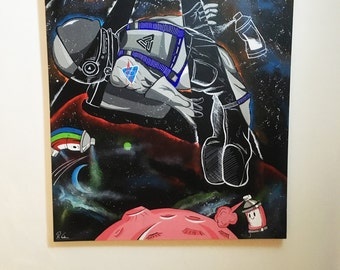 Astronaut Canvas Painting