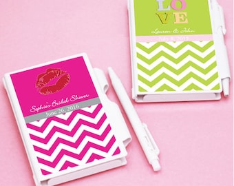 10 pcs Wedding Personalized Chevron Pattern Notebook Favors  with Stickers JM180864-FC6700