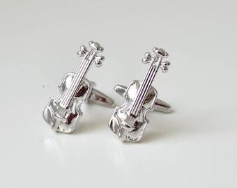 Violin Cufflinks/ Music Cufflinks/ Gift Mens/ Violin/ Cuff Links/ Cufflinks Jewelry/ Mens Gifts/ Violin lovers gift/ Vilolin cufflink lovers