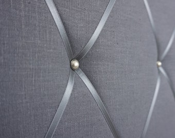 Memo Board - Terminal wall made of linen in anthracite by marengu