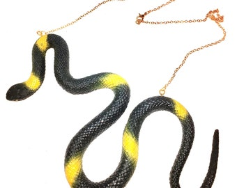 Necklace of snake, funky made