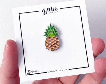 Pineapple Enamel Pin - Pineapple brooch