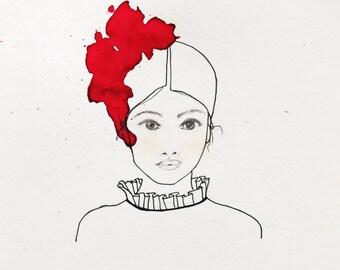 Original illustration in watercolor and pencil