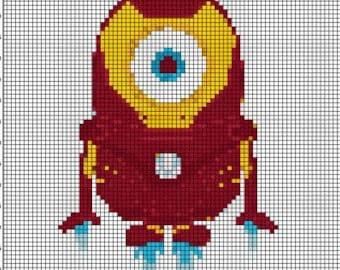 The Avengers- Ironman Minion Cross Stitch pattern