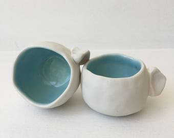 Set of two porcelain espresso cups,Pair of espresso cups,  Espresso Mug, Coffee Mug, Small Cup, Handmade Cup, Coffee lovers, Gift for her