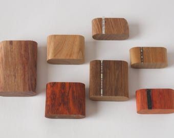 Exotic Wood Scraps - Oval Chunks - Sample Size - 20 pcs.