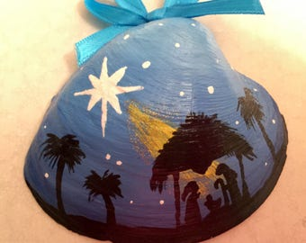 Nativity Hand Painted Shell (#2)
