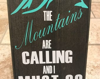 Rustic Sign and Home Decor Mountains