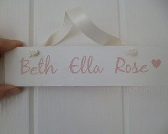 Baby name, room sign.nursery sign,Girls name sign,Bedroom door sign,New baby gift, Nursery Gift,Christening Gift,Wooden sign,Rustic